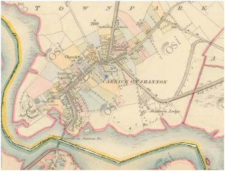 historic map of carrick
